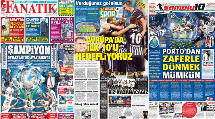 13 Eylül gazete manşetleri