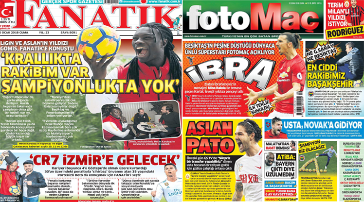 Gazete manşetleri (12 Ocak)