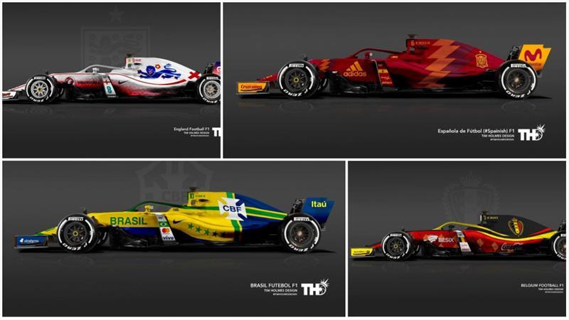 F1 arabalarında Dünya Kupası esintisi