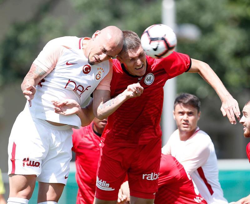 Galatasaray - FC Wil maçından kareler