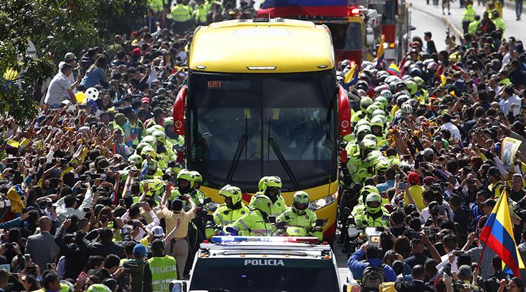 Kolombiya'ya coşkulu karşılama