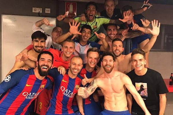 Barcelona tarihi zaferi kutluyor...