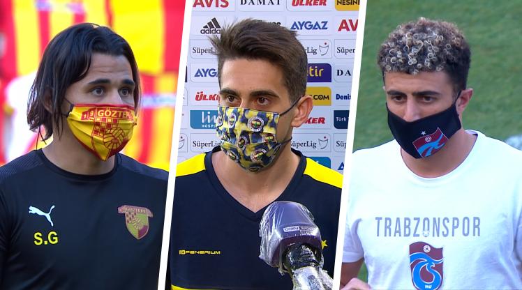 Süper Lig ekipleri, maç öncesinde taktıkları maskelerle hem tedbiri elden bırakmadı, hem de görsel anlamda futbolseverlere güzel enstantaneler sundu.