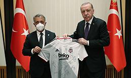 Cumhurbaşkanı Erdoğan, Beşiktaş'ı kabul etti