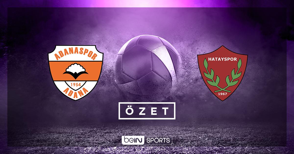 Adanaspor Atakaş Hatayspor maç özeti
