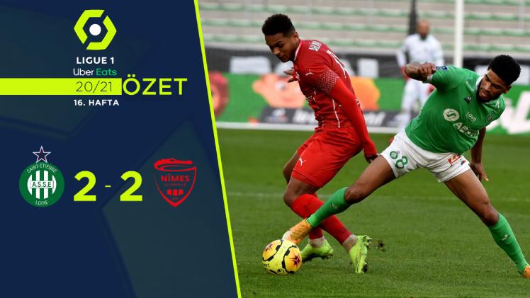 Saint Etienne Nimes Olympique maç özeti