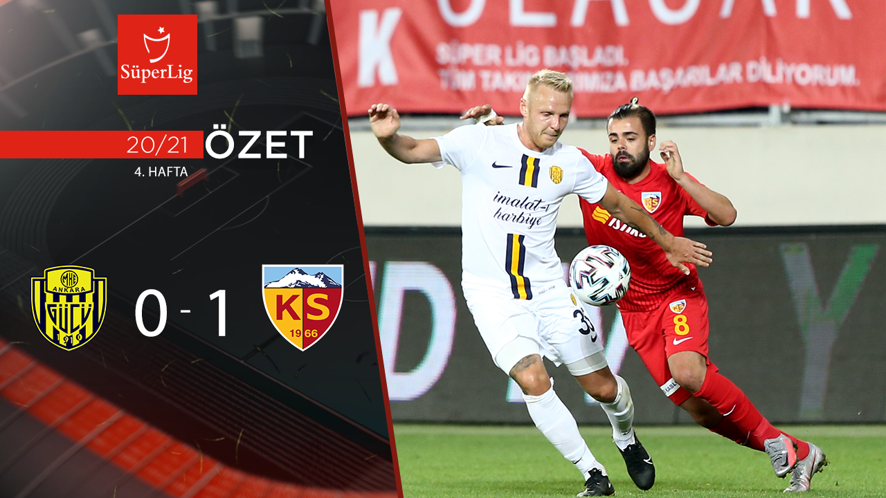 MKE Ankaragücü Hes Kablo Kayserispor maç özeti