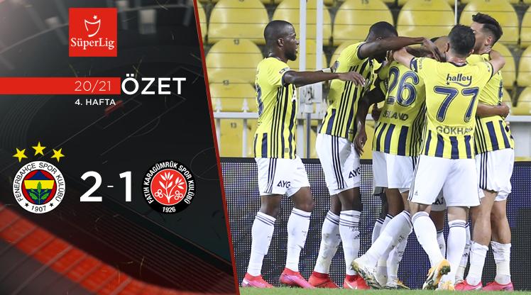 Fenerbahçe Fatih Karagümrük maç özeti