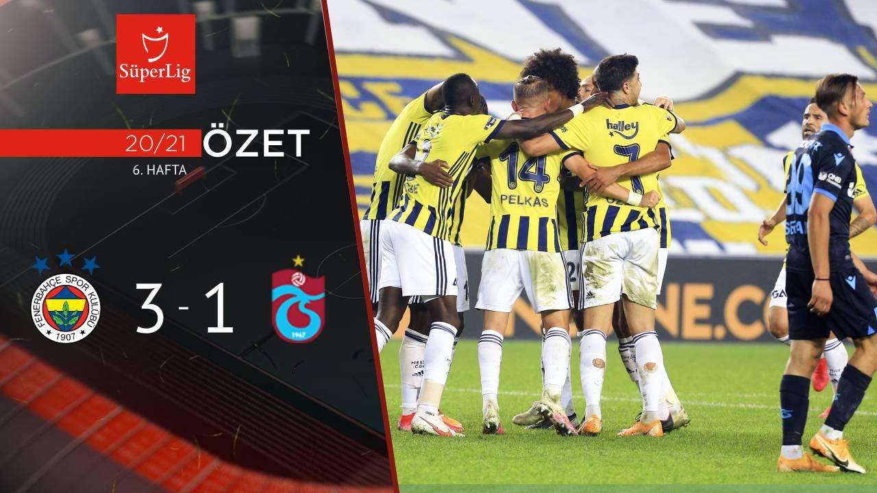 Fenerbahçe Trabzonspor maç özeti