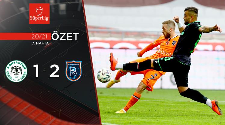 İttifak Holding Konyaspor Medipol Başakşehir maç özeti
