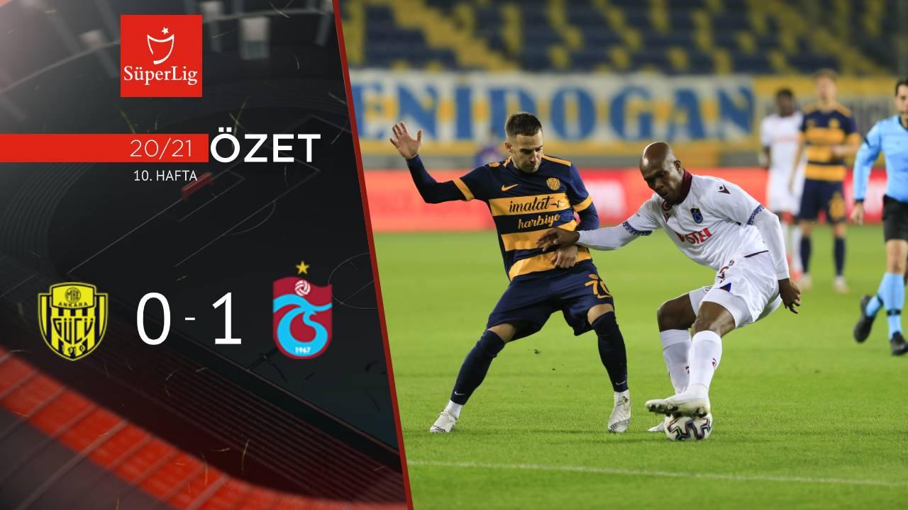 MKE Ankaragücü Trabzonspor maç özeti