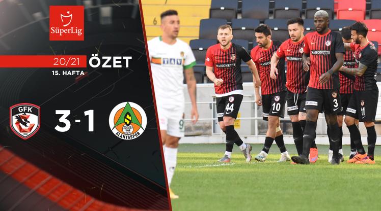 Gaziantep FK Aytemiz Alanyaspor maç özeti