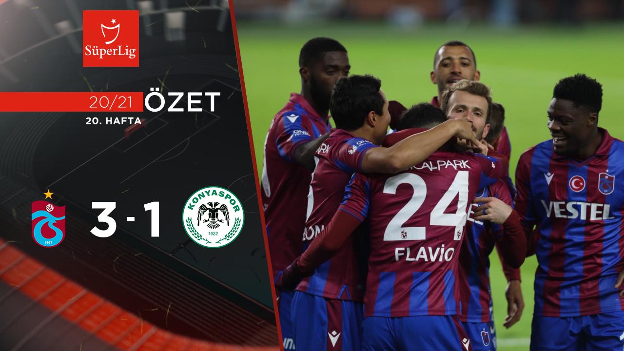 Trabzonspor İttifak Holding Konyaspor maç özeti