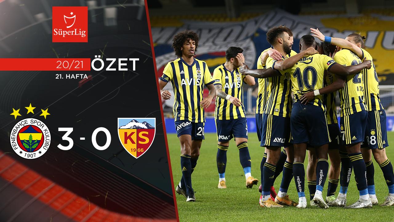 Fenerbahçe Hes Kablo Kayserispor maç özeti