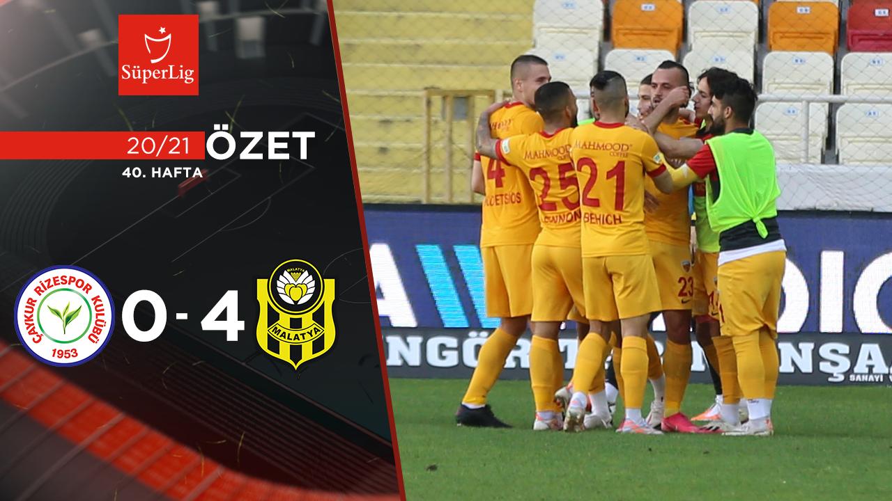 Çaykur Rizespor Helenex Yeni Malatyaspor maç özeti