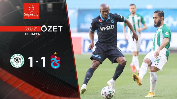 İttifak Holding Konyaspor Trabzonspor maç özeti