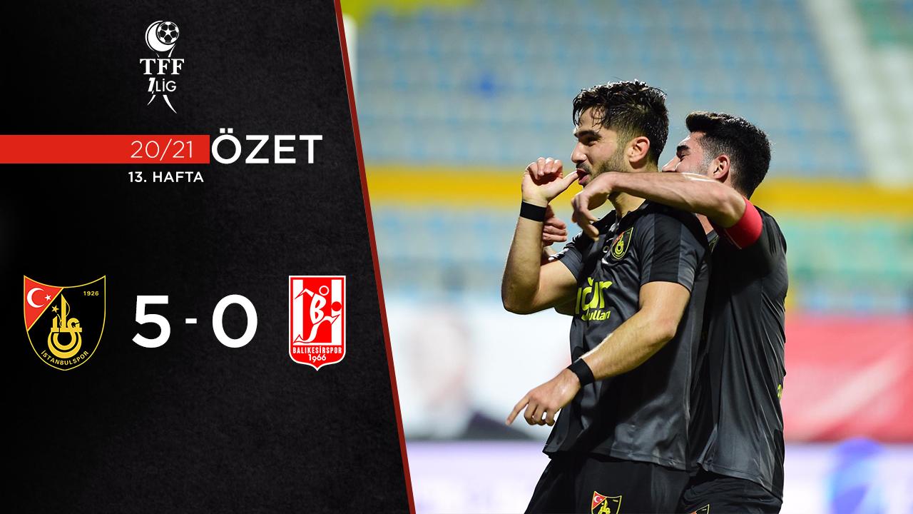 İstanbulspor Aydeniz Et Balıkesirspor maç özeti