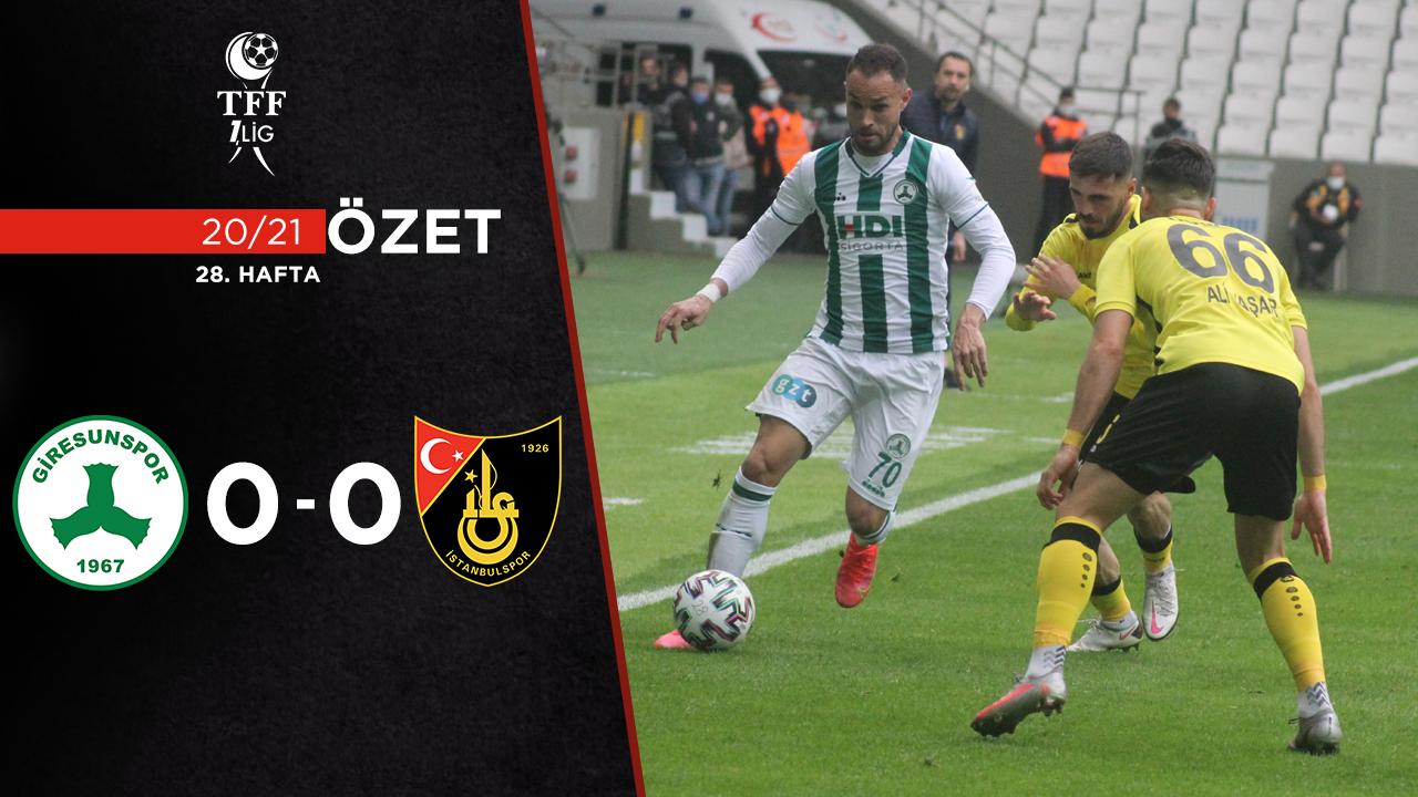 GZT Giresunspor İstanbulspor maç özeti