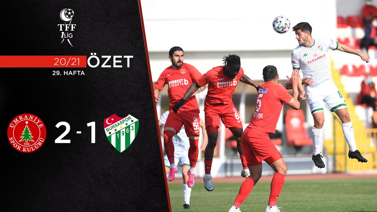 Bereket Sigorta Ümraniyespor Bursaspor maç özeti