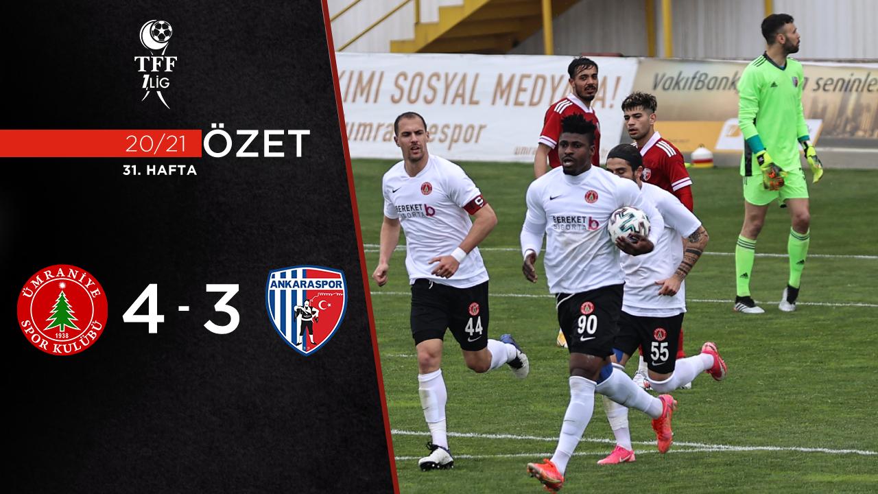 Bereket Sigorta Ümraniyespor Ankaraspor maç özeti