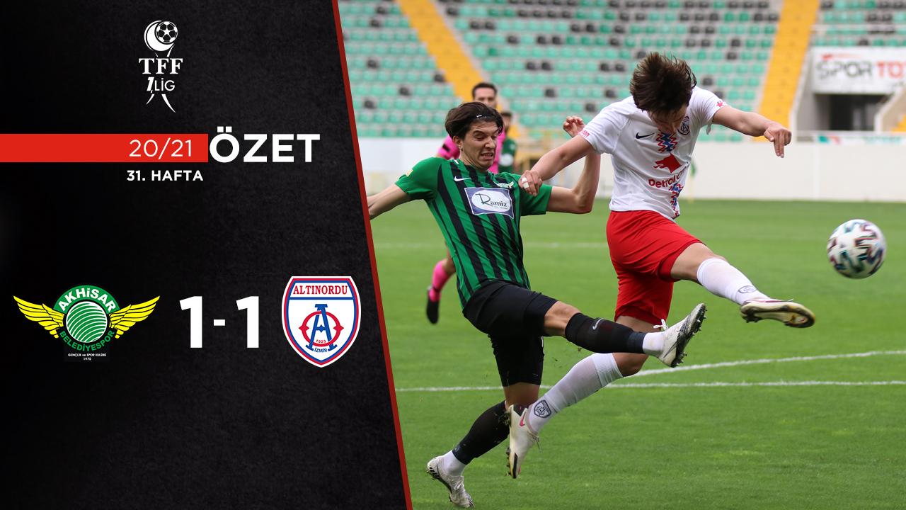 Akhisarspor Altınordu maç özeti