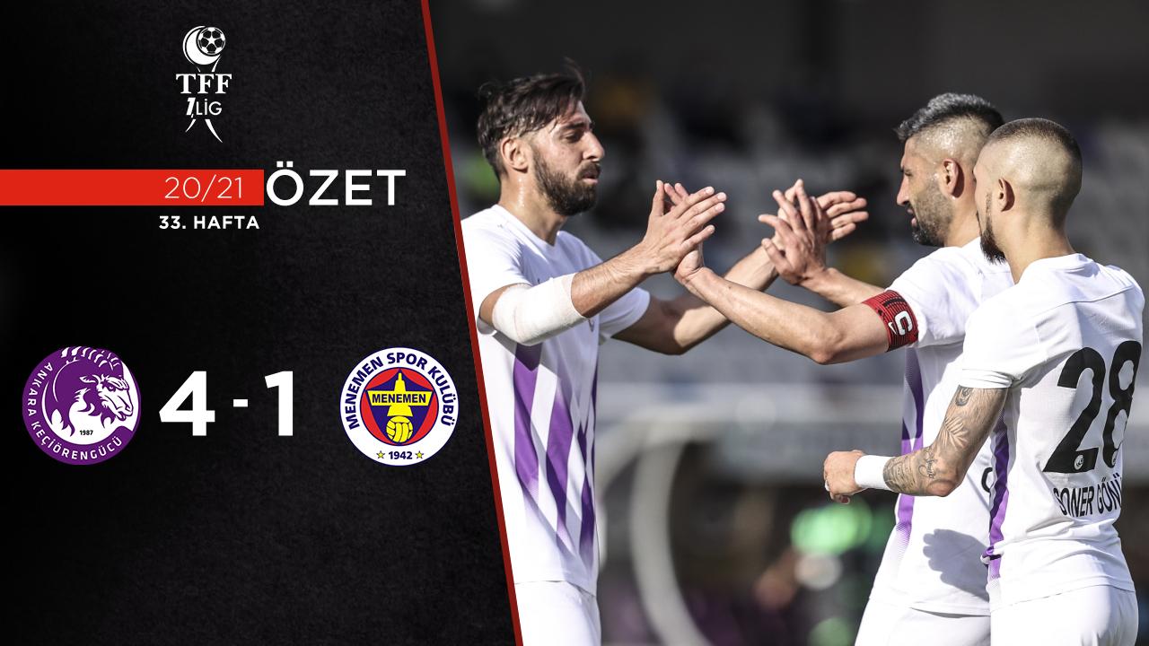Ankara Keçiörengücü Menemenspor maç özeti