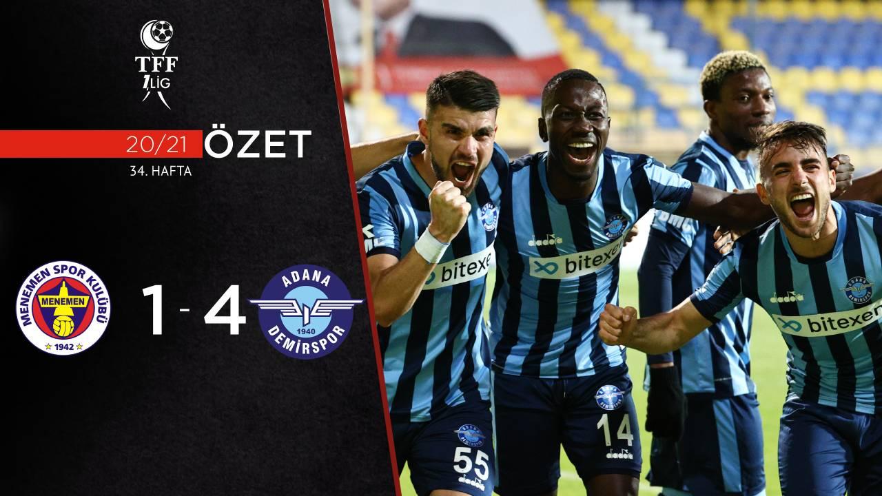 Menemenspor Adana Demirspor maç özeti