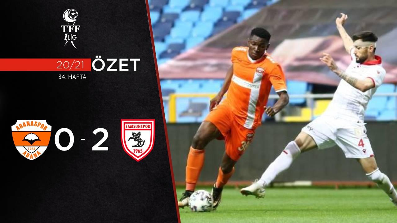 Adanaspor Yılport Samsunspor maç özeti