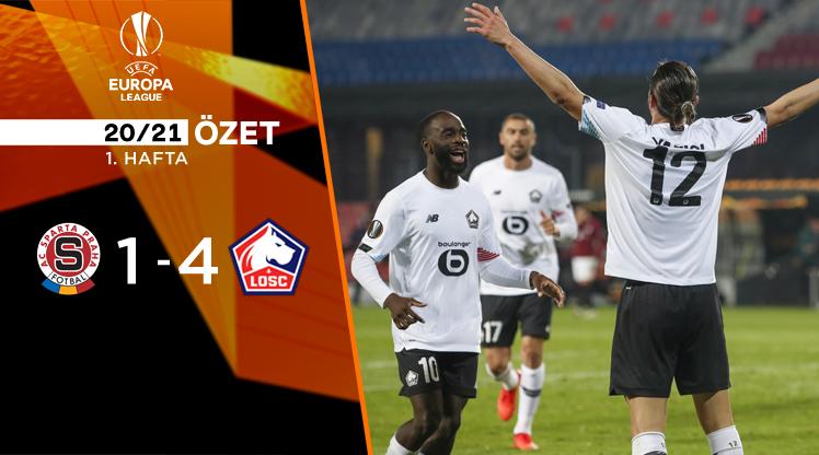 Sparta Prag Lille maç özeti