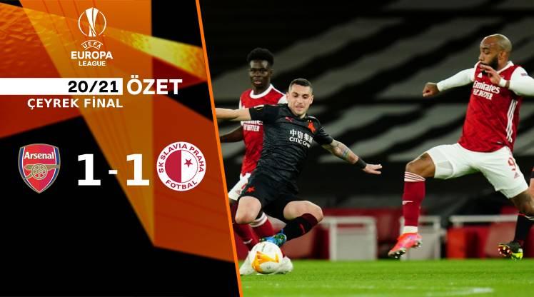 Arsenal Slavia Prag maç özeti